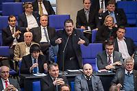 """17. Sitzung des Deutschen Bundestag am Donnerstag den 1. Maerz 2018.<br /> Im Bild: Stephan Brandner von der rechtsnationalistischen """"Alternative fuer Deutschland"""", AfD, redet zum Tagesordnungspunkt """"Zustaendigkeit des Bundes bei der Gefahrenabwehr"""".<br /> Brandtner veroeffentlichte ueber den Kurznachrichtendienst Twitter ein Foto mit einer Machete und fragte, wie er sie """"kuenstlerisch"""" gegen """"Antifa"""" einsetzen koenne und Bundesjustizminister Heiko Maas nannte er ein """"Ergebnis politischer Inzucht"""". Seit 31. Januar 2018 ist Brandner Vorsitzender des Rechtsausschusses des Bundestages.<br /> 1.3.2018, Berlin<br /> Copyright: Christian-Ditsch.de<br /> [Inhaltsveraendernde Manipulation des Fotos nur nach ausdruecklicher Genehmigung des Fotografen. Vereinbarungen ueber Abtretung von Persoenlichkeitsrechten/Model Release der abgebildeten Person/Personen liegen nicht vor. NO MODEL RELEASE! Nur fuer Redaktionelle Zwecke. Don't publish without copyright Christian-Ditsch.de, Veroeffentlichung nur mit Fotografennennung, sowie gegen Honorar, MwSt. und Beleg. Konto: I N G - D i B a, IBAN DE58500105175400192269, BIC INGDDEFFXXX, Kontakt: post@christian-ditsch.de<br /> Bei der Bearbeitung der Dateiinformationen darf die Urheberkennzeichnung in den EXIF- und  IPTC-Daten nicht entfernt werden, diese sind in digitalen Medien nach §95c UrhG rechtlich geschuetzt. Der Urhebervermerk wird gemaess §13 UrhG verlangt.]"""