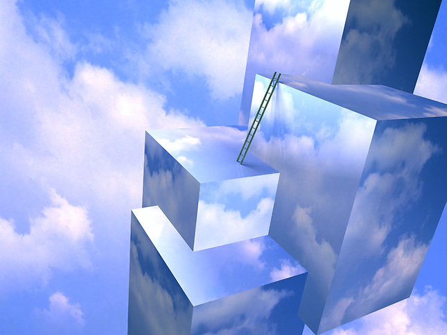 Ladder on sky mapped cubes
