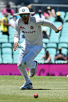 10th January 2021; Sydney Cricket Ground, Sydney, New South Wales, Australia; International Test Cricket, Third Test Day Four, Australia versus India; Shubman Gill of India chases the ball