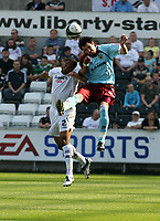 Pictured: Ashley Williams of Swansea City <br /> Coca Cola Championship, Swansea City FC v Burnley at the Liberty Stadium, Swansea. Saturday 20 September 2008.