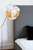 Modern lamp in bedroom