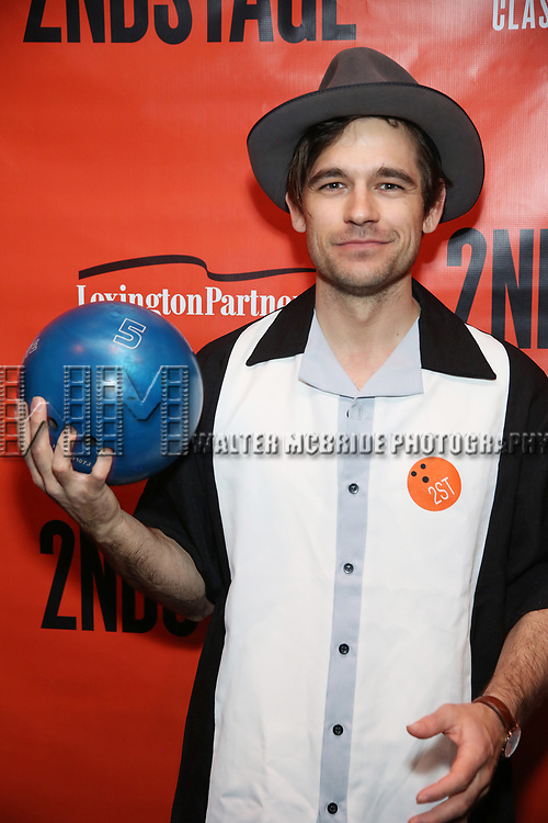Jason Ralph attends the Second Stage Theatre 2018 Bowling Classic at Lucky Strike  on February 12, 2018 in New York City.