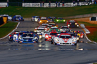 Green flag, Petit Le Mans , Road Atlanta, Braselton, GA, October 2014.   (Photo by Brian Cleary/www.bcpix.com)