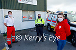 Members of the Tralee Red Cross who received a Merit award at the Lee Strand Kerry Garda Youth Achievement Award virtual ceremony on Saturday night. Front right: Anna Marie O'Donnell. Back l to r: Thomas White and Garda Cathy Murphy