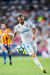 Karim Benzema of Real Madrid in action during their La Liga 2017-18 match between Real Madrid and Valencia CF at the Estadio Santiago Bernabeu on 27 August 2017 in Madrid, Spain. Photo by Diego Gonzalez / Power Sport Images