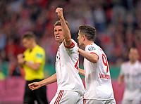 17.04.2018, Football DFB Pokal 2017/2018, semi final , Bayer Leverkusen - FC Bayern Muenchen, in BayArena Leverkusen.  Thomas Mueller (FC Bayern Muenchen). *** Local Caption *** © pixathlon<br /> <br /> Contact: +49-40-22 63 02 60 , info@pixathlon.de