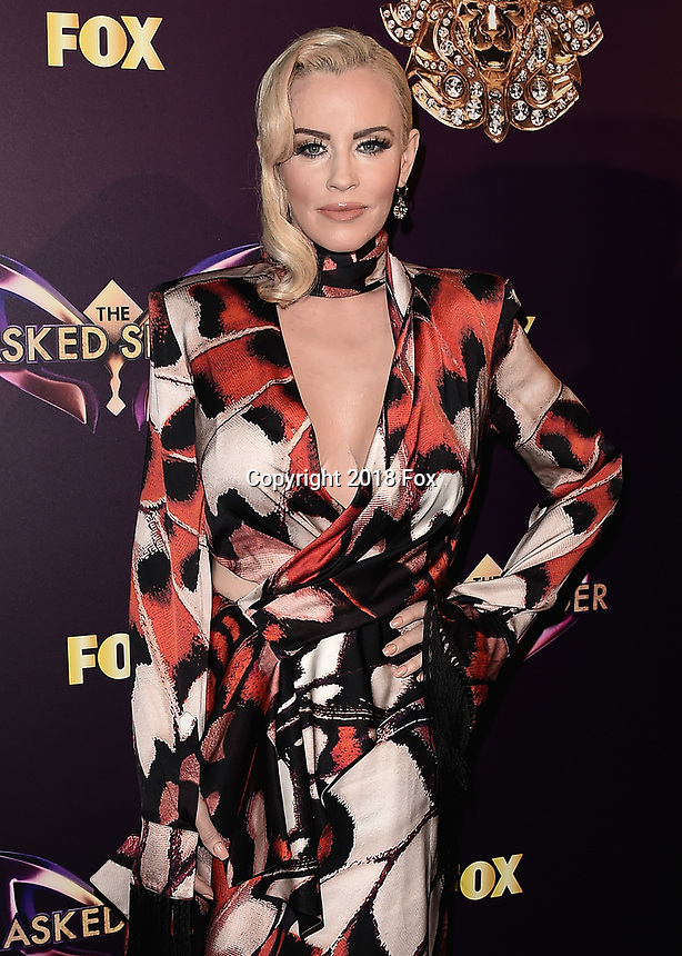 """WEST HOLLYWOOD - DECEMBER 13:  Jenny McCarthy at the premiere karaoke event for season one of """"The Masked Singer"""" at The Peppermint Club on December 13, 2018 in West Hollywood, California. (Photo by Scott Kirkland/Fox/PictureGroup)"""