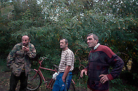 Villagers living on the outskirts of South Ossetia, near Gori...
