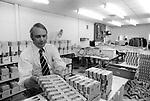 Grunwick Strike North London UK. Anglo Indian businessman George Ward owner of film processing factory.