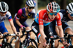 The lead group including Luxembourg Champion Christine Majerus (LUX) Boels Dolmans Cyclingteam head for Nice during La Course By Le Tour de France 2020, running 96km from Nice to Nice, France. 29th August 2020.<br /> Picture: ASO/Thomas Maheux | Cyclefile<br /> All photos usage must carry mandatory copyright credit (© Cyclefile | ASO/Thomas Maheux)