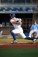 Charlotte Stone Crabs left fielder Robbie Tenerowicz (1) during a game against the Dunedin Blue Jays on June 5, 2018 at Charlotte Sports Park in Port Charlotte, Florida.  Dunedin defeated Charlotte 9-5.  (Mike Janes/Four Seam Images)