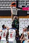 Liga ENDESA 2019/2020. Game: 07.<br /> Club Joventut Badalona vs TD Systems Baskonia: 83-82.<br /> Luca Vildoza, Tonye Jekiri & Ante Tomic.