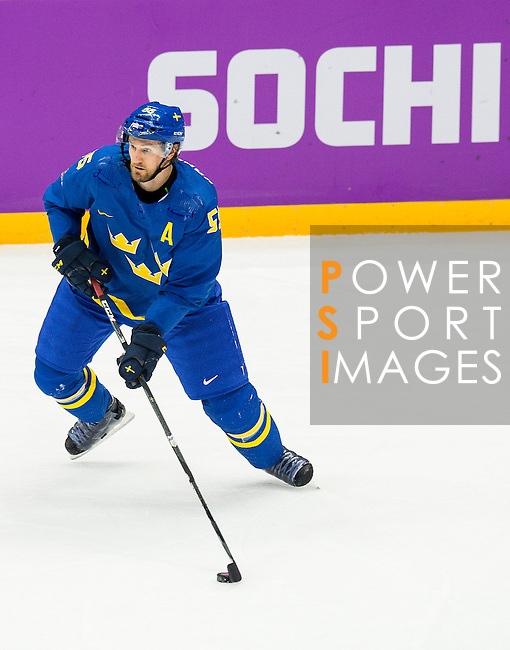 Niklas Kronwall of Sweden in action during the match between Sweden vs Czech Republic during their Men's Ice Hockey Preliminary Round Group C game on day five of the 2014 Sochi Olympic Winter Games at Bolshoy Ice Dome on February 12, 2014 in Sochi, Russia. Photo by Victor Fraile / Power Sport Images