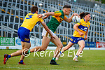 David Clifford, Kerry, in action against Cillian Brennan, Clare, during the Munster Football Championship game between Kerry and Clare at Fitzgerald Stadium, Killarney on Saturday.