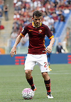 Calcio, Serie A: Roma vs ChievoVerona. Roma, stadio Olimpico, 8 maggio 2016.<br /> Roma's Alessandro Florenzi in action during the Italian Serie A football match between Roma and ChievoVerona at Rome's Olympic stadium, 8 May 2016.<br /> UPDATE IMAGES PRESS/Isabella Bonotto