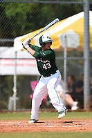 Farmingdale State Rams Joe Zabbara during a game against the U-Mass Boston Beacons at North Charlotte Regional Park on March 19, 2015 in Port Charlotte, Florida.  U-Mass Boston defeated Farmingdale 9-5.  (Mike Janes/Four Seam Images)