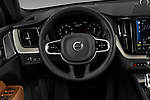 Car pictures of steering wheel view of a 2018 Volvo XC60-Hybride-Rechargeable Inscription-4wd 5 Door SUV Steering Wheel