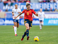 HARRISON, NJ - MARCH 08: Mapi Leon #16 of Spain dribbles during a game between Spain and USWNT at Red Bull Arena on March 08, 2020 in Harrison, New Jersey.