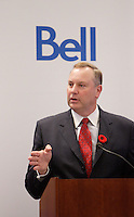 Montreal (QC) CANADA, November 2nd 2009- In an address to The Canadian Club today in Montreal, Bell and BCE President and CEO George Cope announced that Bell will launch its much-anticipated new HSPA wireless network on Wednesday, November 4.