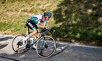 Lennard Kämna (DEU/Bora-Hansgrohe) soloing towards victory in the race finale with +15km to go<br /> <br /> Stage 16 from La Tour-du-Pin to Villard-de-Lans (164km)<br /> <br /> 107th Tour de France 2020 (2.UWT)<br /> (the 'postponed edition' held in september)<br /> <br /> ©kramon