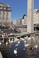 Alsterfleet am Rathausmarkt in Hamburg, Deutschland