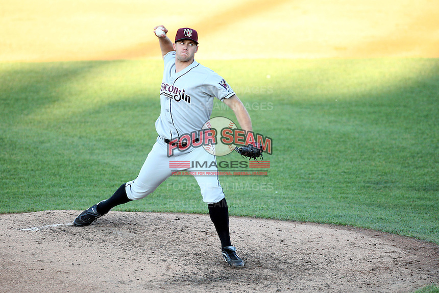 May 27, 2010: Kyle Heckathorn (36) of the Wisconsin Timber Rattlers at Elfstrom Stadium in Geneva, IL. The Timber Rattlers are the Midwest League Class A affiliate of the Milwaukee Brewers. Photo by: Chris Proctor/Four Seam Images