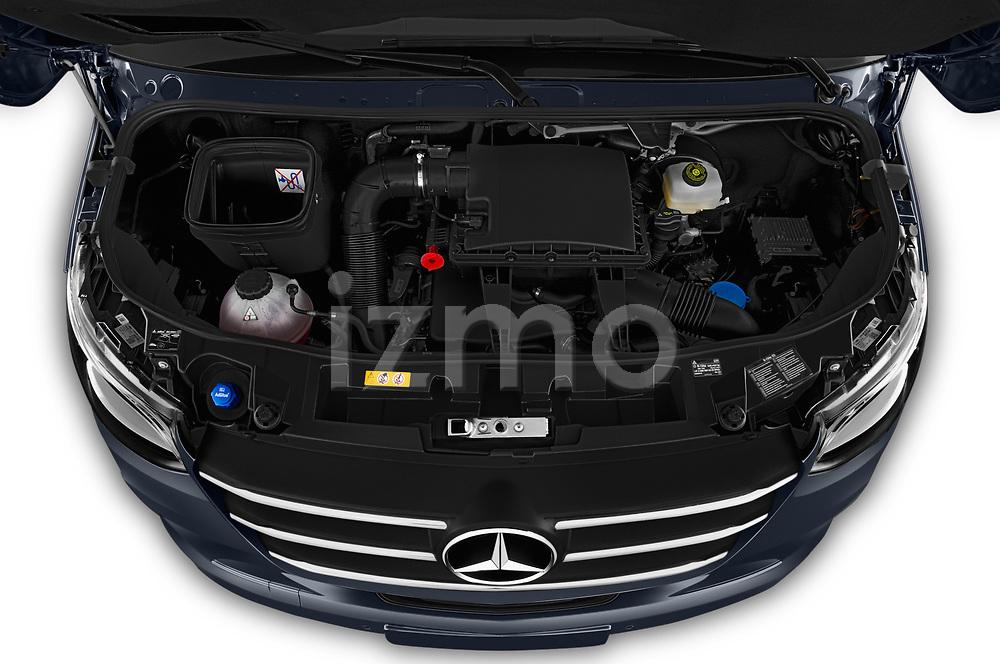 Car Stock 2019 Mercedes Benz Sprinter-Fourgon - 4 Door Cargo Van Engine  high angle detail view