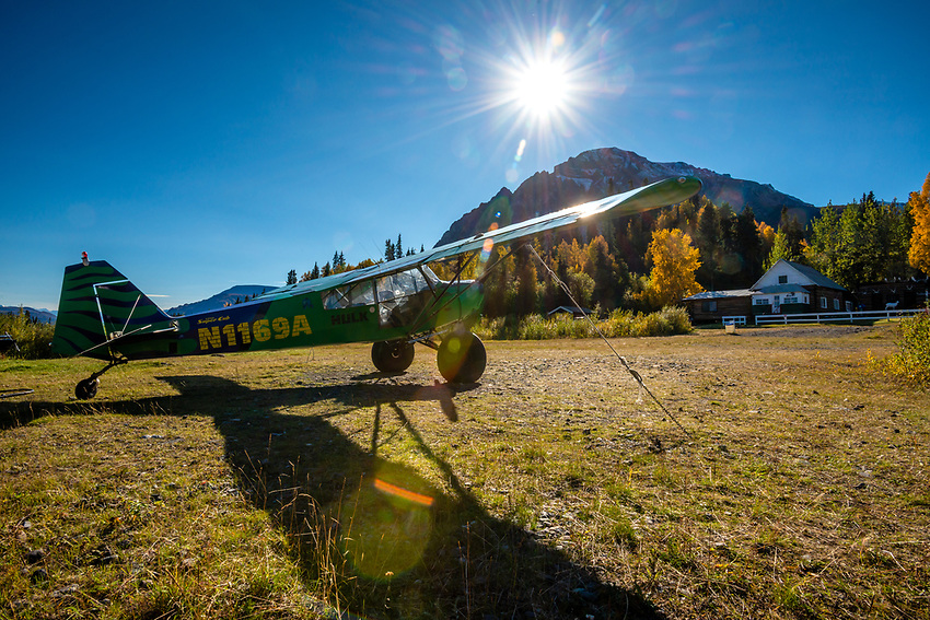 Devil's Mountain Lodge, Nabesna Road, Alaska.