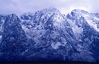 USA, Wyoming, Grand teton National Park. Storm clouds over the Grand Teton mountain range