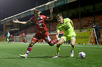 Hector Kyprianou of Leyton Orient and Jack Powell of Crawley Town during Crawley Town vs Leyton Orient, Papa John's Trophy Football at The People's Pension Stadium on 5th October 2021