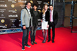 The producers with the director Miguel Angel Vivas and Rachel Nichols during the red carpet of the opening ceremony of the Festival de Cine Fantastico de Sitges in Barcelona. October 07, Spain. 2016. (ALTERPHOTOS/BorjaB.Hojas)