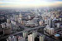 CHINA. Beijing. A junction in western Beijing, seen from the CCTV communications tower. 2009