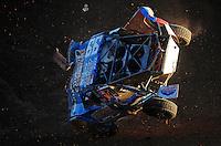 Dec. 10, 2011; Chandler, AZ, USA;  LOORRS pro two unlimited driver Robby Woods crashes during round 15 at Firebird International Raceway. Mandatory Credit: Mark J. Rebilas-
