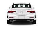 Straight rear view of a 2019 Mercedes Benz CLS-Coupe CLS450 4 Door Sedan stock images