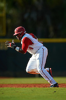 Ohio State Buckeyes left fielder Ronnie Dawson (4) running the bases during a game against the Illinois State Redbirds on March 5, 2016 at North Charlotte Regional Park in Port Charlotte, Florida.  Illinois State defeated Ohio State 5-4.  (Mike Janes/Four Seam Images)