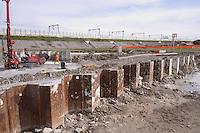 - cantiere per la costruzione del nuovo collegamento autostradale Brescia-Bergamo-Milano ( BreBeMi ) presso Cassano d'Adda<br /> <br /> - yard for the construction of new highway  link Brescia-Bergamo-Milan ( Brebemi ) at Cassano dì'Adda