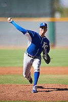 Kansas City Royals pitcher Dillon Drabble (49) during an Instructional League game against the Cleveland Indians on October 11, 2016 at the Cleveland Indians Player Development Complex in Goodyear, Arizona.  (Mike Janes/Four Seam Images)