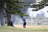James Tauariki during the New Zealand Amateur Golf Championship, Poverty Bay Golf Course, Awapuni Links, Gisborne, Friday 23 October 2020. Photo: Simon Watts/www.bwmedia.co.nz