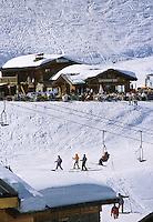 Europe/France/Rhône-Alpes/74/Haute-Savoie/Chatel: Chalets à Plaine Dranse 1700mètres dans le Massif du Lingus itinéraire des Portes du Soleil