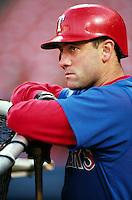 Will Clark of the Texas Rangers at Anaheim Stadium in Anaheim,California during the 1996 season. (Larry Goren/Four Seam Images)