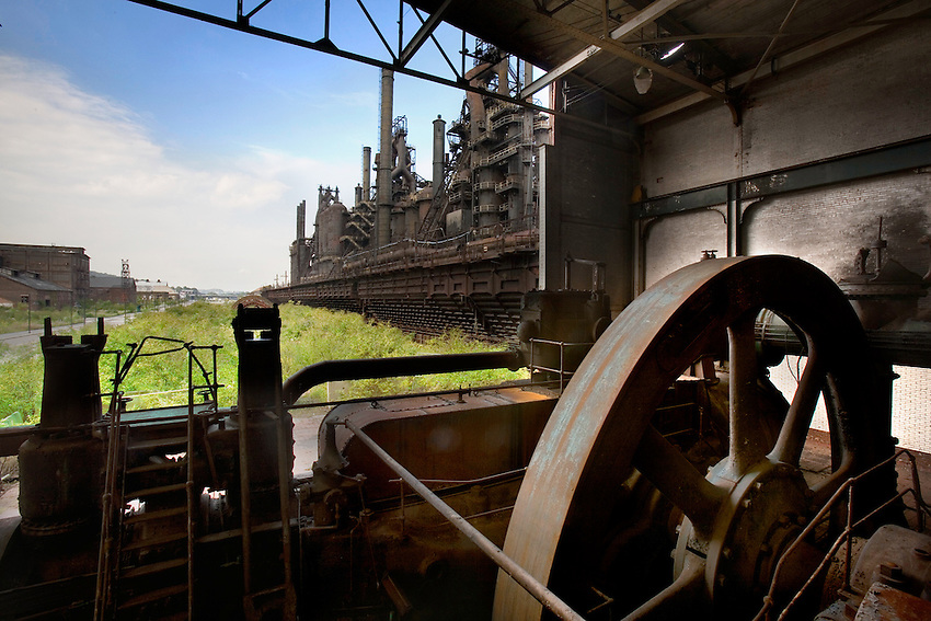 Various photos from inside the former Bethlehem Steel Plant, owned by Beth Works Now.