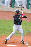Kane County Cougars third baseman Jeimer Candelario #12 bats during a game against the Cedar Rapids Kernels at Veterans Memorial Stadium on June 9, 2013 in Cedar Rapids, Iowa. (Brace Hemmelgarn/Four Seam Images)