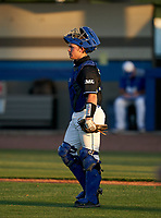 IMG Academy Ascenders catcher Brady Neal (28) during a game against the Jesuit Tigers on April 21, 2021 at IMG Academy in Bradenton, Florida.  (Mike Janes/Four Seam Images)