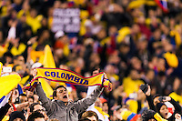 Colombia fans. Brazil (BRA) and Colombia (COL) played to a 1-1 tie during international friendly at MetLife Stadium in East Rutherford, NJ, on November 14, 2012.