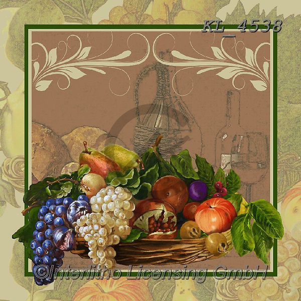 Interlitho-, STILL LIFE STILLEBEN, NATURALEZA MORTA, paintings+++++,grapes,fruits,KL4538,#i#, EVERYDAY ,napkins,Franco