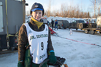 Rose Capistrant portrait At the start of the 2016 Junior Iditarod Sled Dog Race on Willow Lake  in Willow, AK February 27, 2016
