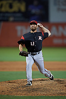 Richmond Flying Squirrels pitcher Sam Moll (41) during an Eastern League game against the Bowie Baysox on August 15, 2019 at Prince George's Stadium in Bowie, Maryland.  Bowie defeated Richmond 4-3.  (Mike Janes/Four Seam Images)