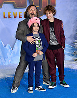 "LOS ANGELES, USA. December 10, 2019: Jack Black ,Thomas David Black & Samuel Jason Black at the world premiere of ""Jumanji: The Next Level"" at the TCL Chinese Theatre.<br /> Picture: Paul Smith/Featureflash"