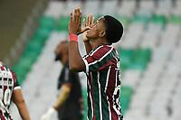 Rio de Janeiro (RJ), 09/05/2021 - Fluminense-Portuguesa - Kayky jogador do Fluminense comemora seu gol,durante partida contra a Portuguesa,válida pelas semifinais do Campeonato Carioca,realizada no Estádio Jornalista Mário Filho (Maracanã), na zona norte do Rio de Janeiro, neste domingo (09).