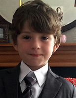 Pictured: Police handout of Lewis Rhys<br /> Re: A mother and her eight-year-old son have gone missing from their Anglesey home.<br /> Family of Elen Jones, 36, and Lewis Rhys, who live in Menai Bridge, have not seen them since Tuesday 17 January.<br /> North Wales Police believe they are travelling in a gold coloured Citroen Xzara with the registration YS52VTV.<br /> They have put out an alert on Facebook. Officers are appealing for sightings of the pair.